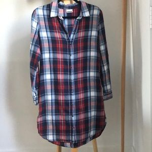 Noisy May Plaid Button Up Dress